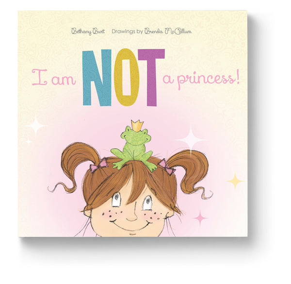 I Am NOT A Princess! is a delightful story with a powerful message. Eliza loves the idea of being a beautiful princess! What's not to love? Princesses get to dress up in the fanciest dresses and wear beautiful jewels! They live happily ever after with the prince of their dreams in splendid castles in the countryside. They are never burdened with boring chores or unpleasant activities. They get to do what they want everyday! Their only real job is looking pretty! ...But, it's what princesses can't do that becomes a problem. Discover what happens when one little girl who wants to be a princess finds out just what sort of limitations being a princess comes with.