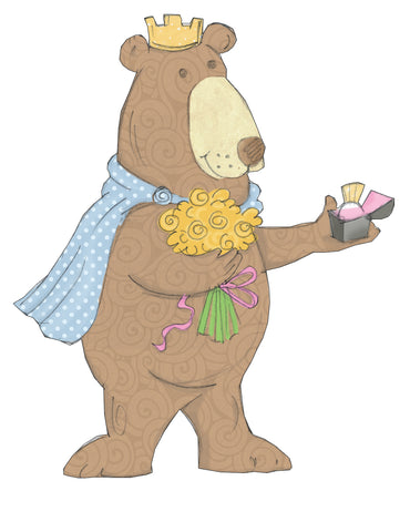 I am not a Princess Book-Bear with Ring