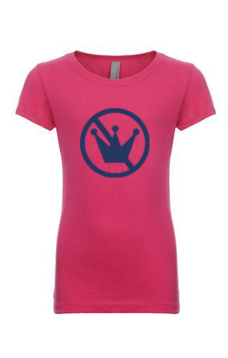 I Am NOT a Princess T-Shirt, Bright Pink Shirt with Navy Logo