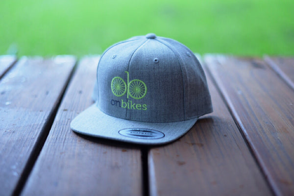 onbikes heather grey/green snapback