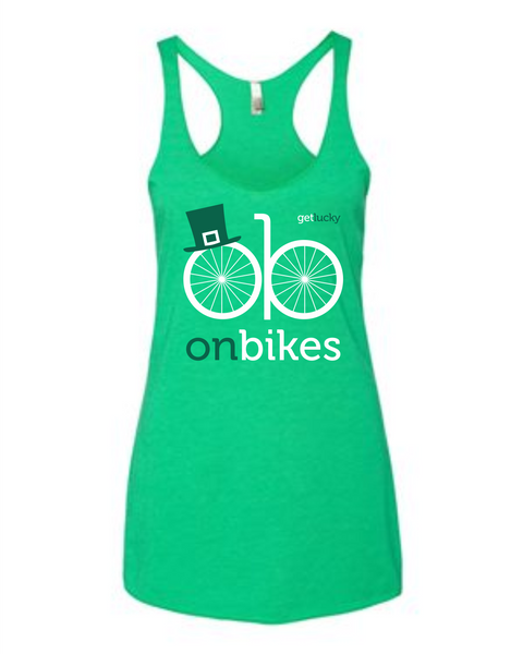 St. Patty's Day Racerback Tank - Green