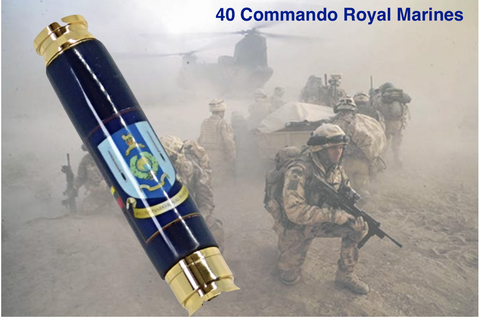 Royal Marines 40 Commando insignia 7.62mm Bullet pen - Regimental Pens