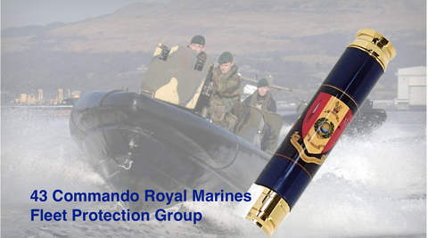 Royal Marines 43 Commando Crest Bullet pen 7.62mm - Regimental Pens