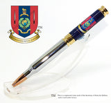 Royal Marines 45 Commando  insignia 7.62mm Bullet pen - Regimental Pens