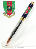 Royal Marines Commando Training Centre insignia 7.62mm Bullet Pen - Regimental Pens