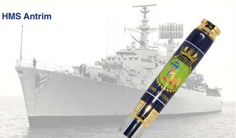 HMS Antrim 7.62mm Bullet pen - Regimental Pens