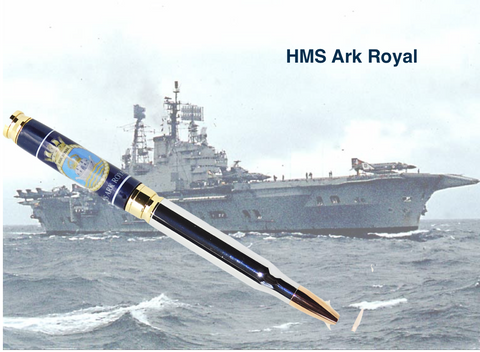 HMS Ark Royal 7.62mm Bullet - Regimental Pens