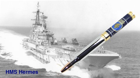 HMS HERMES 7.62mm Bullet pen - Regimental Pens