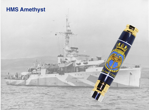 HMS Amethyst 7.62mm Bullet pen - Regimental Pens