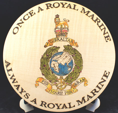 Once a Royal Marine Platter - Made from Chestnut actually planted by the 2nd Duke of Montagu in 1710