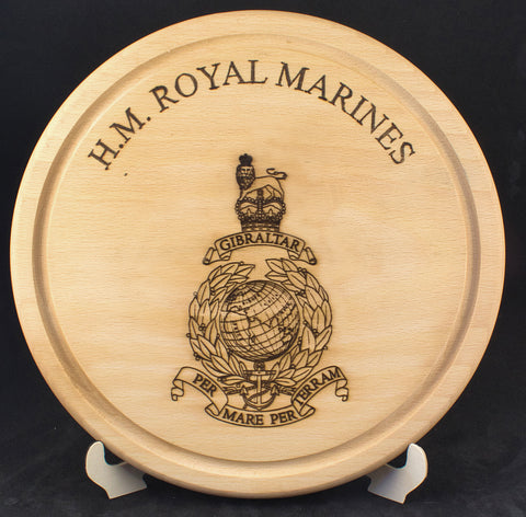 "Royal Marines Cheesboard 10"" diameter"