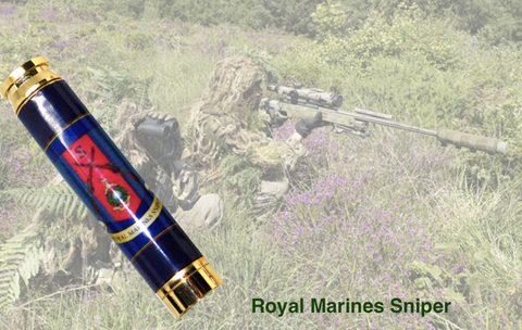 Royal Marines Sniper insignia 7.62mm Bullet Pen - Regimental Pens