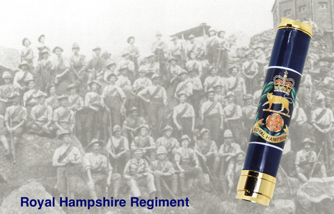 Royal Hampshire Regiment 7.62mm Bullet pen - Regimental Pens