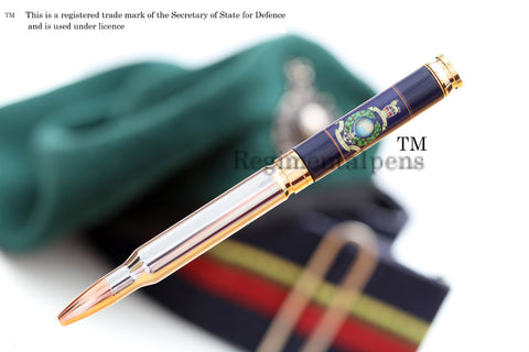 Royal Marines Globe & Laurel Crest 7.62mm Bullet pen - Regimental Pens