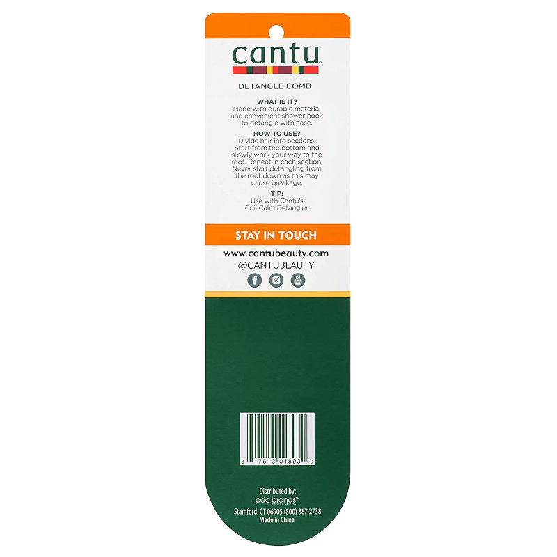 Cantu Sturdy Detangle Comb