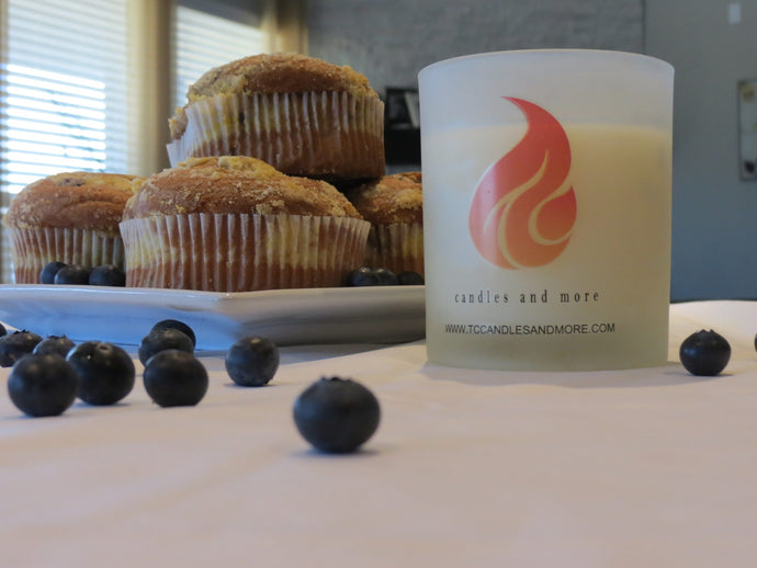 Blueberry Muffin scented 15 oz candle - TC Candles & More