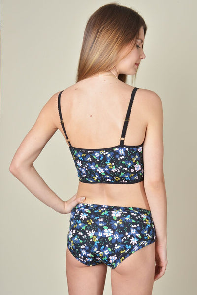 Mid-Rise Brief 60's Floral