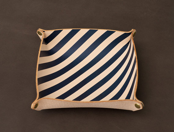 Catchall Tray in Navy Stripe