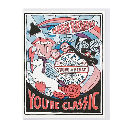 Classic Rock Birthday Greeting Card