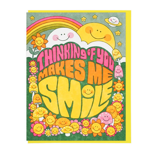 Thinking Of You Makes Me Smile Greeting Card