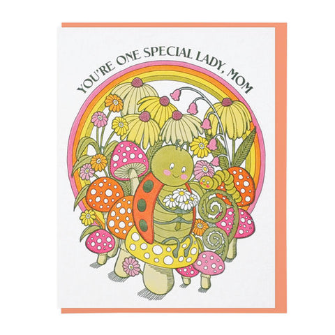 Special Ladybug Mom Greeting Card