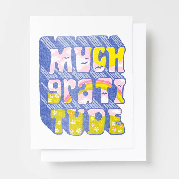 Much Gratitude Risograph Card