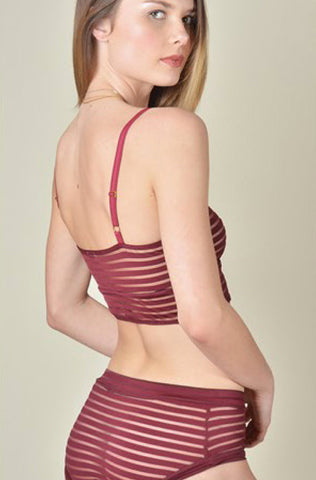 Mid-Rise Brief Maroon