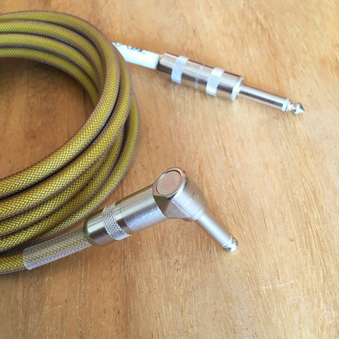10ft Brown Over Yellow Instrument Cable