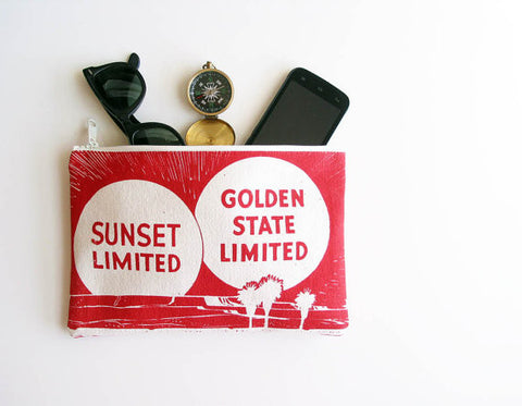 Golden State Zipper Pouch