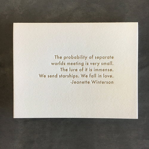 Jeanette Winterson Quote Card
