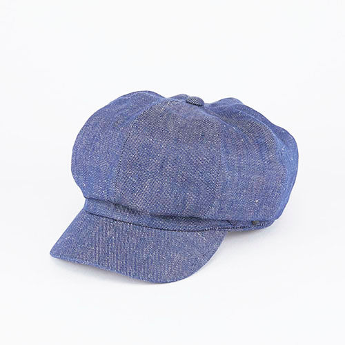 Casquette Linen Denim Dark Blue