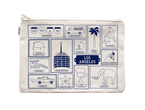 Los Angeles Flat Pouch Natural