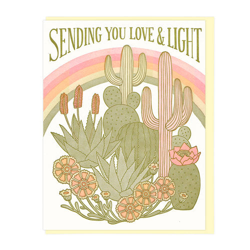 Sending You Love & Light Greeting Card