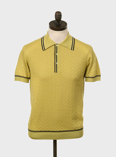 McGriff Knitted Polo Shirt Pistachio