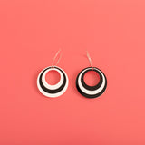 Mega Modtastic Hoop Earrings in Black & White