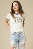 Music Is My Only Friend Crew Neck Shirt Vintage White