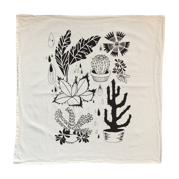 Hearty Plants Tea Towel