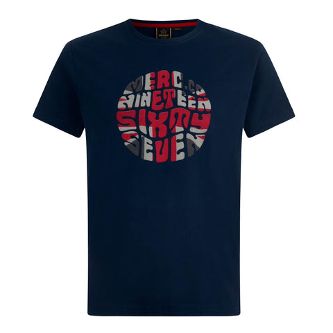 Saxby Union Jack Shirt Navy