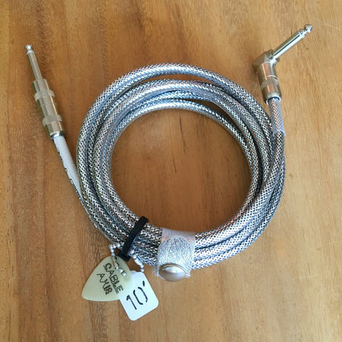 10ft Silver Mylar Instrument Cable