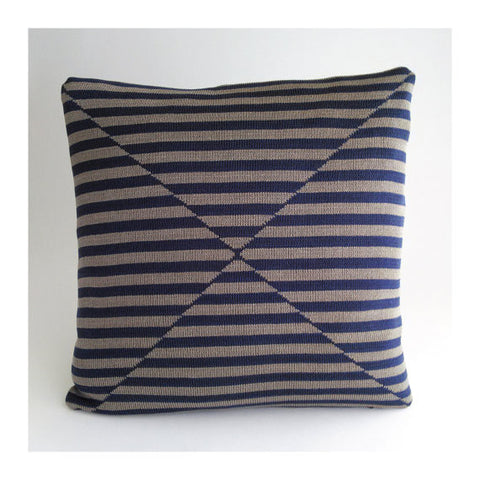 Stripes OP ART Pillow Stripes Grey