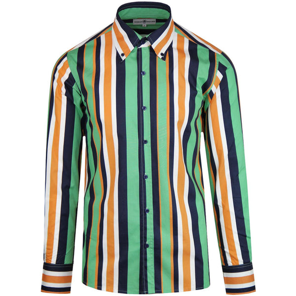 Trip Stripe Mod Button Down Shirt