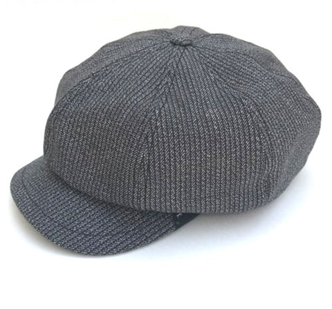 Waisted Casquette Yarn Black Stripe
