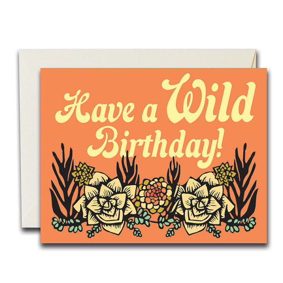 """Wild Birthday Succulents"" Card"