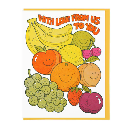 With Love Cutie Fruities Greeting Card