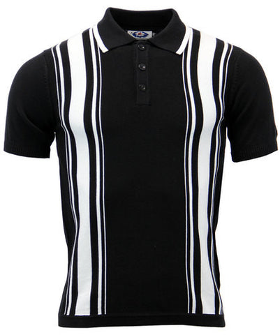 Aftermath Knitted Polo Black