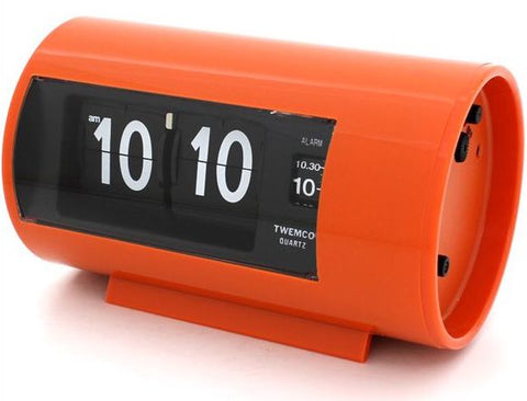 Retro Flip Clock with Alarm Orange