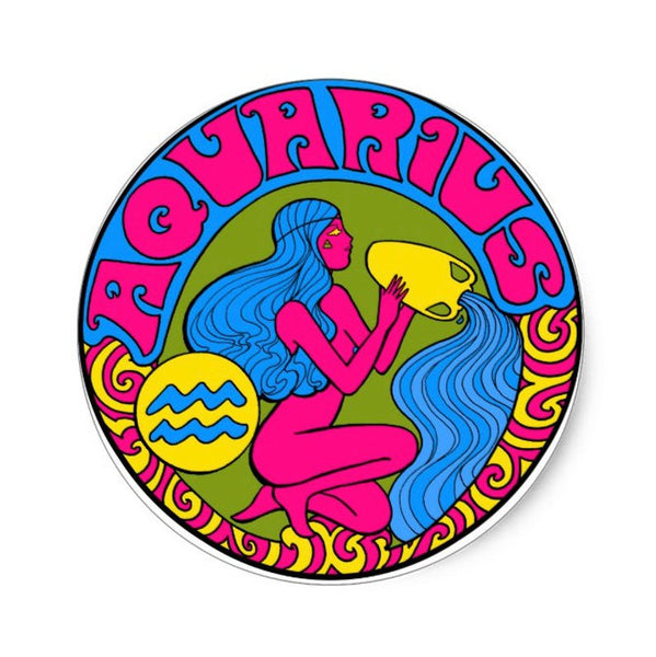 Aquarius Zodiac Sticker 3""