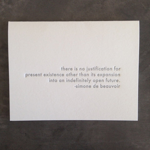 Simone de Beauvoir Quote Card