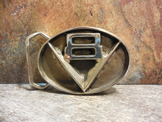 V8 Belt Buckle Gold Bronze