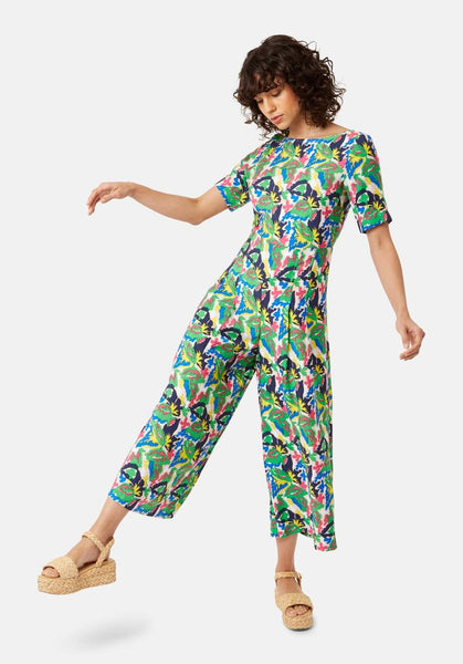 Bianca Short Sleeved Jumpsuit Multicoloured